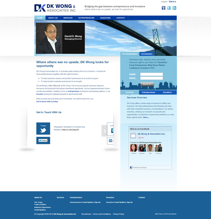 DK Wong & Associates Inc company
